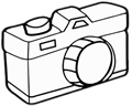 Drawing of an old camera