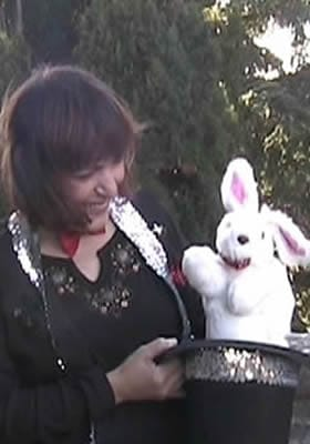 Magic Valery pulls a rabbit out of her hat