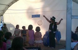 The Magic Valery show at public event